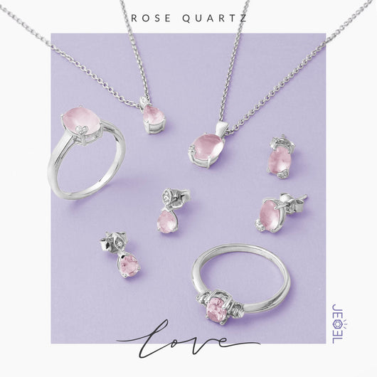 Rose Quartz Love Pendant - JEOEL