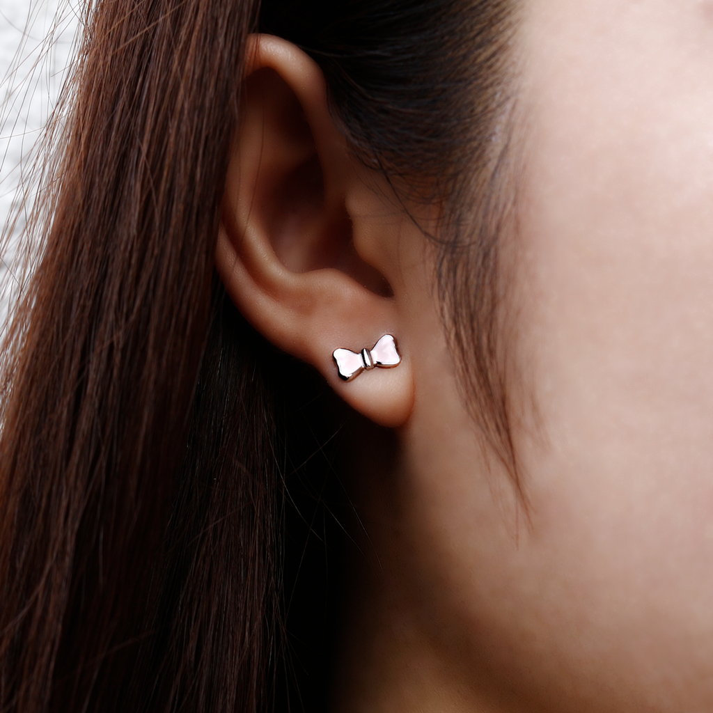 Pink Bow Earrings - JEOEL
