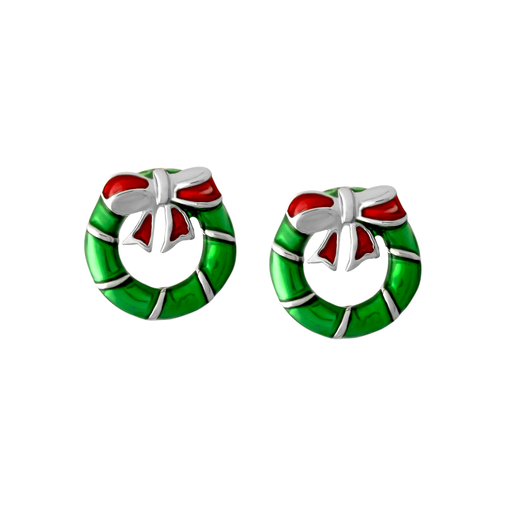 Xmas Wreath Earrings - JEOEL