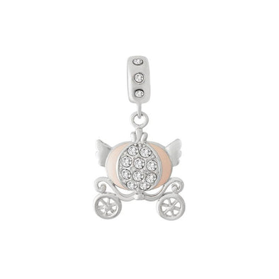 Glitter Carriage Charm