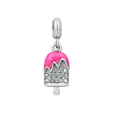 Sparkling Pink Popsicle Bead