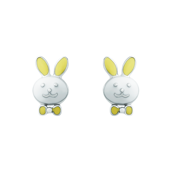 Enamel Rabbit Earrings - JEOEL