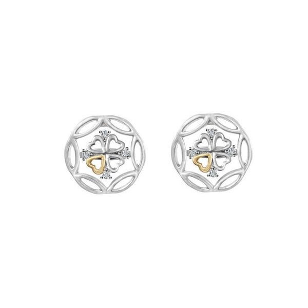 Kaleido Lucky Clover Diamond Earrings - JEOEL