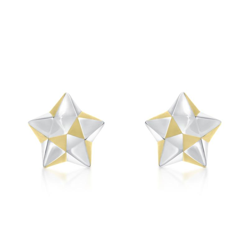 DIY - How to make Lucky Star Origami Earrings - YouTube | 800x800