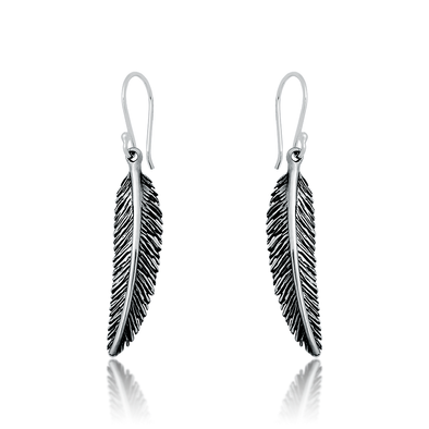 Huia Feather Earrings - JEOEL