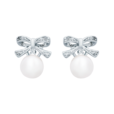 Pearl Ribbon Earrings
