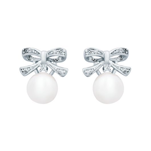 Pearl Ribbon Earrings - JEOEL