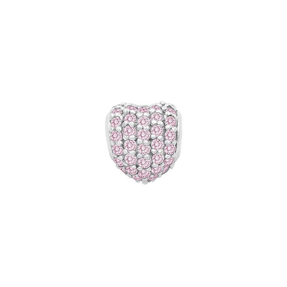 Small Pave Heart Bead - JEOEL