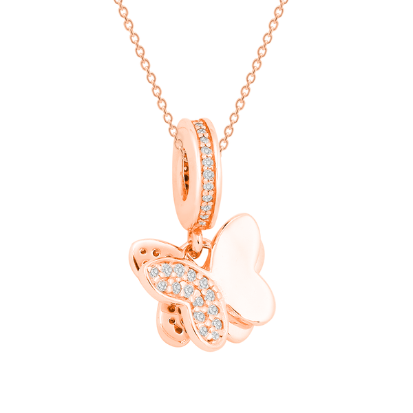 [Special Online Price] Twin Butterfly Bead Necklace Set - JEOEL