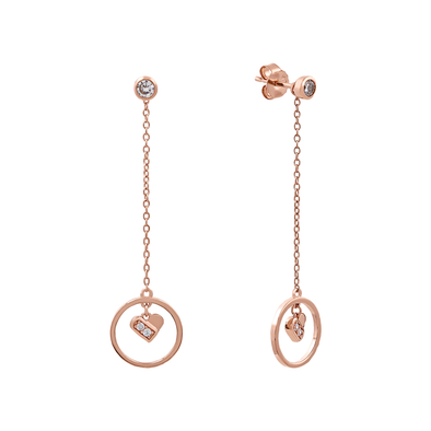 Dancing Waffle Heart Earrings - JEOEL