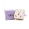 Rose Quartz Galaxy Pendant + Earrings Set - JEOEL