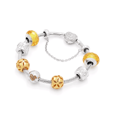 Yellow Starfire Bracelet Set