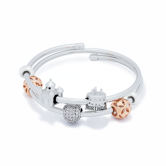 Lovely Castle Cake Bangle Set - JEOEL