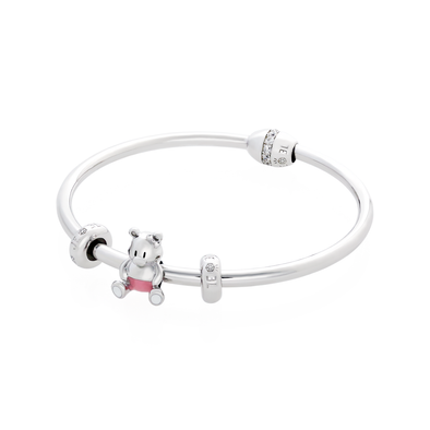 Pink Bear Bangle Set