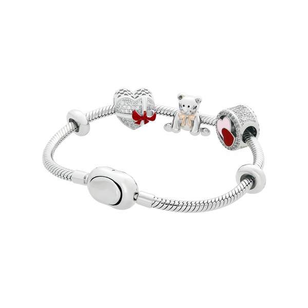 Heart Ribbon Bear Bracelet Set - JEOEL