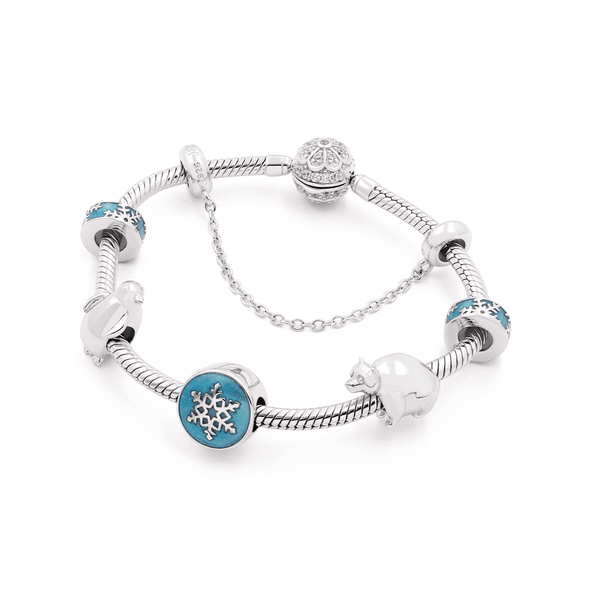 Winter Christmas Bracelet Set