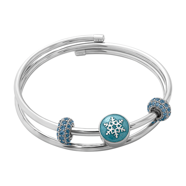 Winter Snowflake Bangle Set - JEOEL