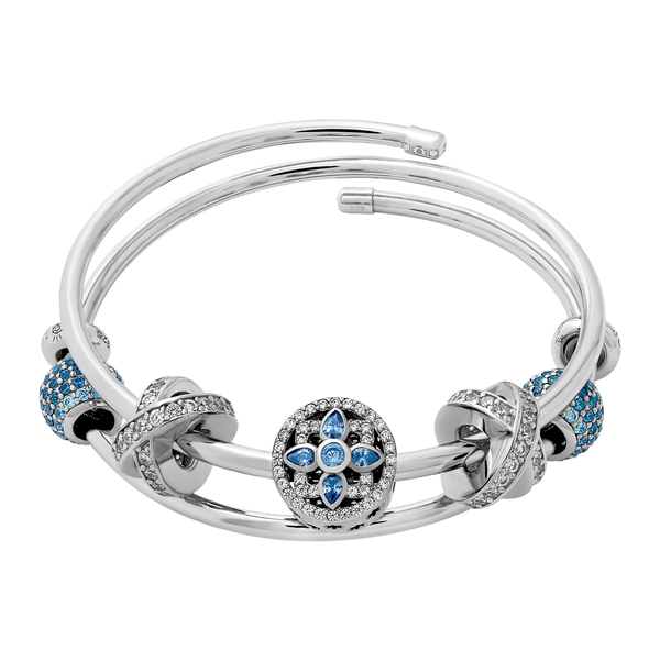 Blue Elegance X Kiss Bangle Set - JEOEL
