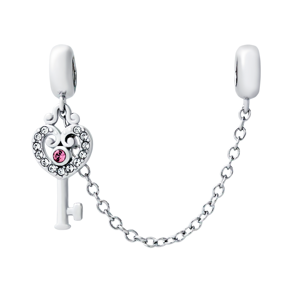 Heart Key Safety Chain - JEOEL