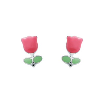 Enamel Tulip Earrings - JEOEL
