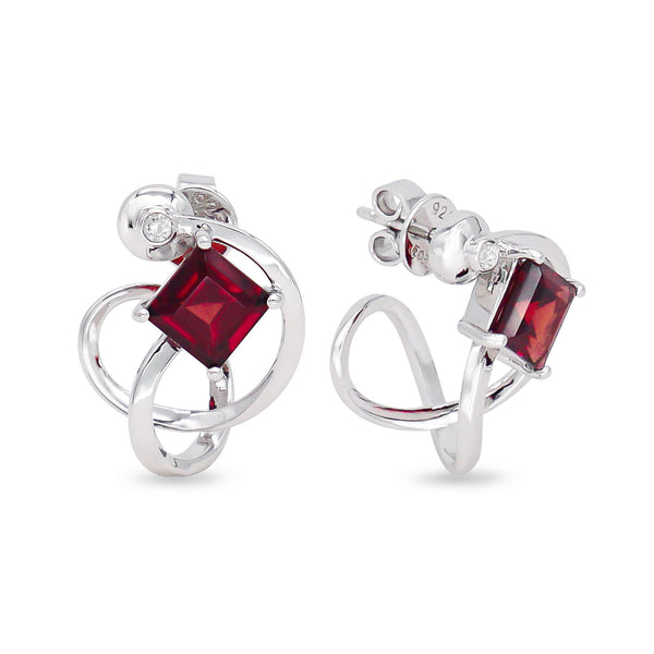 Garnet Universe Earrings - JEOEL