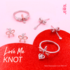 Love Knot Rose Earrings