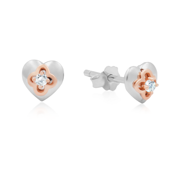 Diamond Heart Earrings - JEOEL