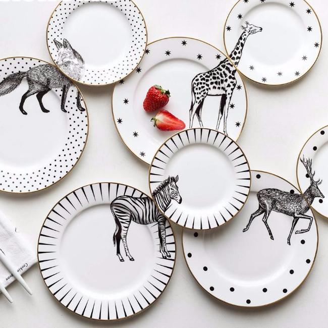 2-Piece Animal Plate Set