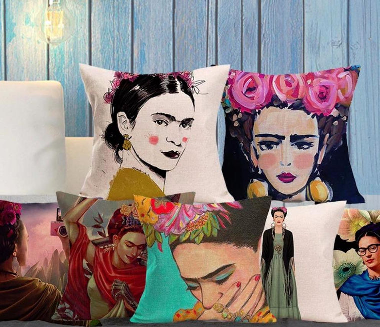 Frida Kahlo portrait Pillow covers collection VL. 3