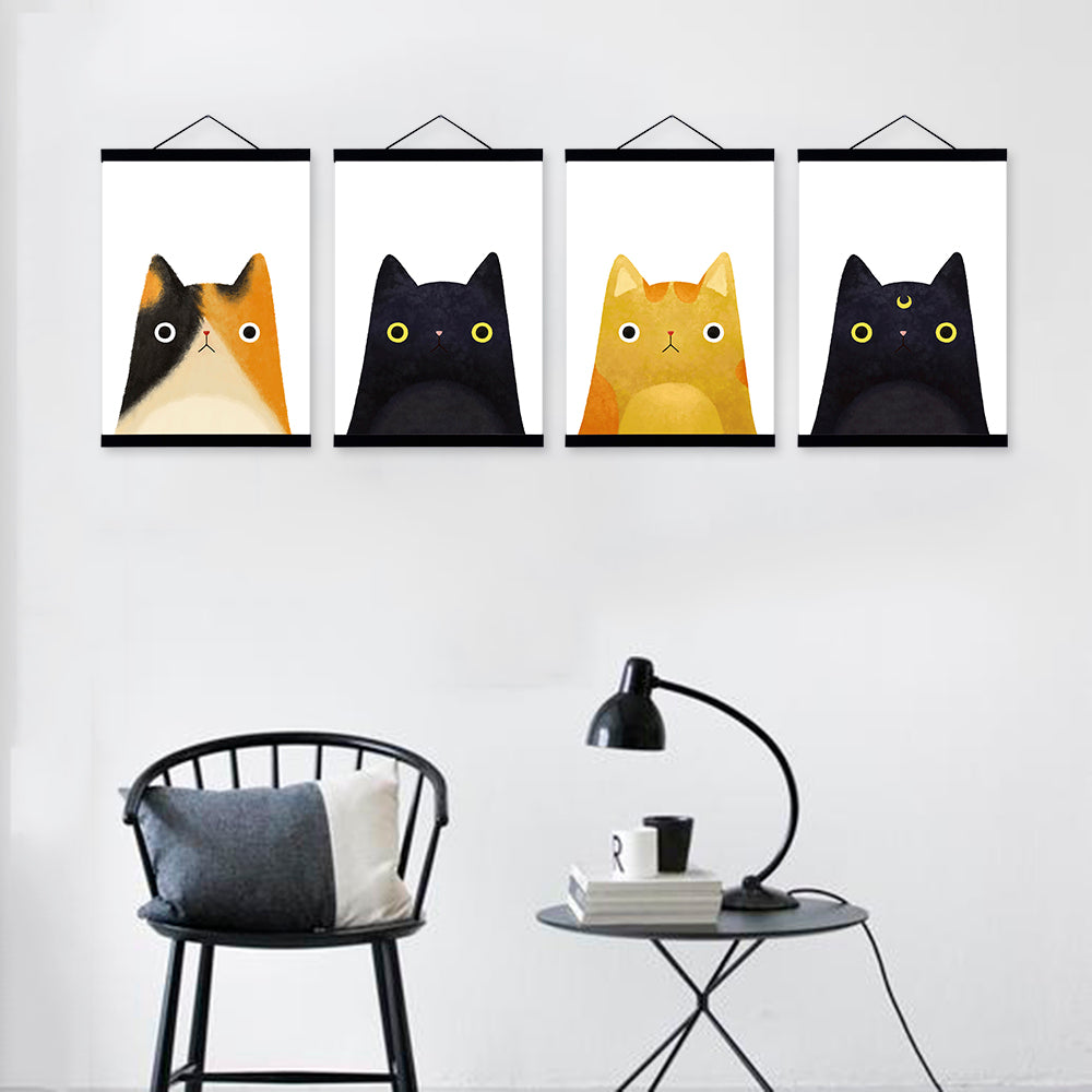 """I Love Cats"" Wall Art Collection"