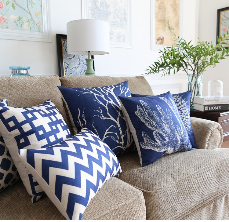 Ocean blue Pillow covers collection