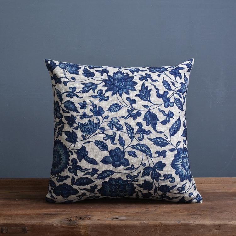 Blue China print style Pillow covers collection