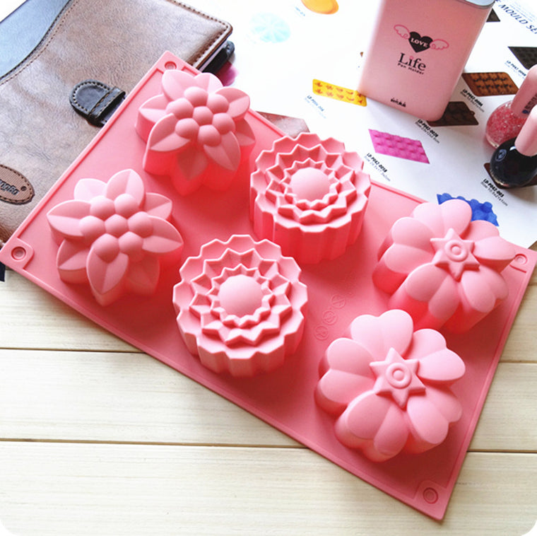 Make Anything & Everything: 6-Cavity Flower Mold