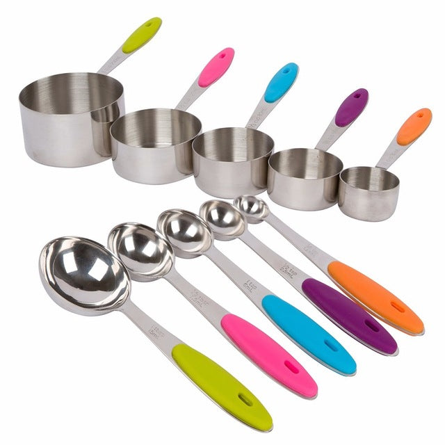 Cooking without Error: 10-Piece Measuring Cup & Spoon Set