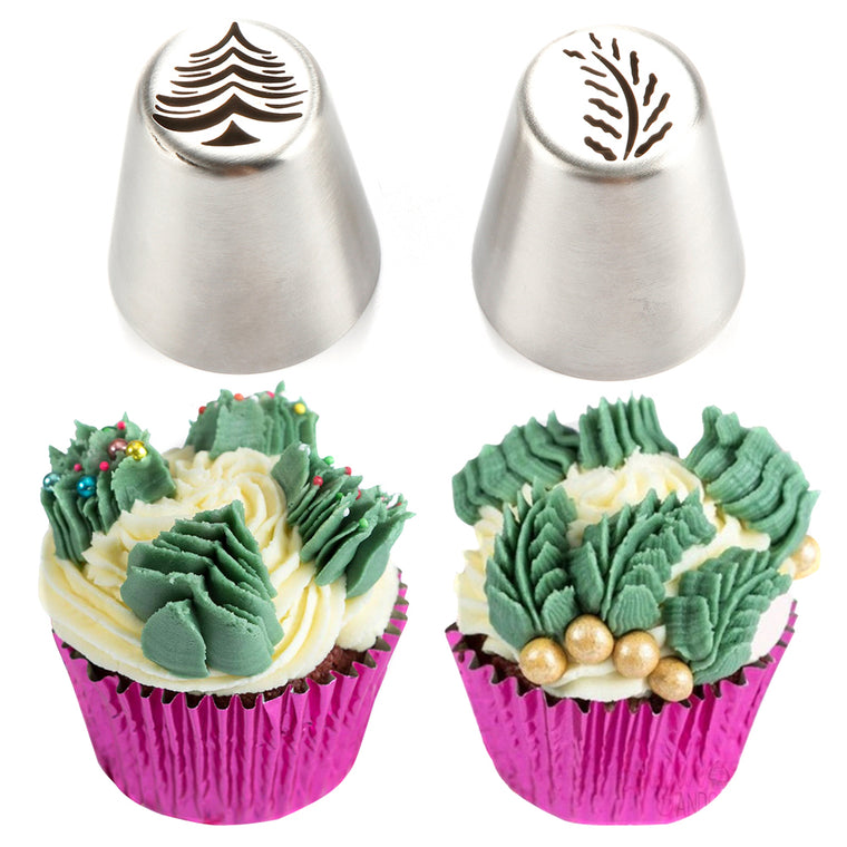 2-Piece Christmas Tree Icing Nozzle Set