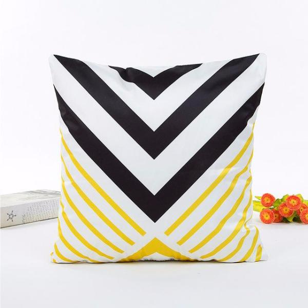 Geometric Yellow & Gray Pillow covers collection