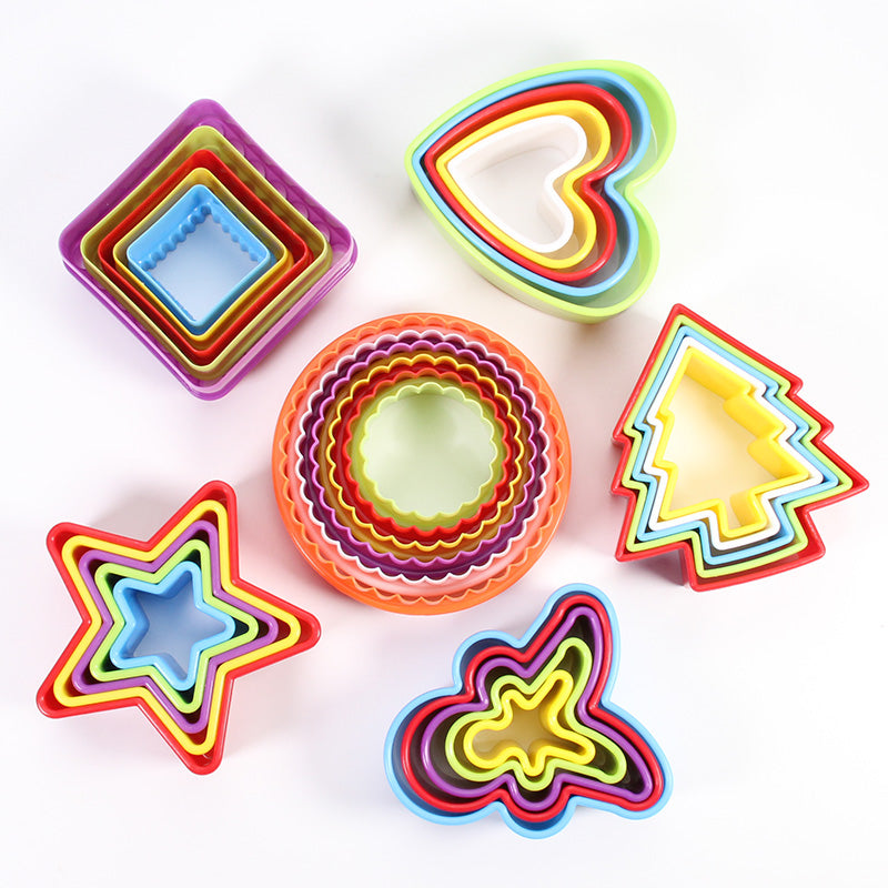 Multi-Sized Multi-Colored Cookie Cutters