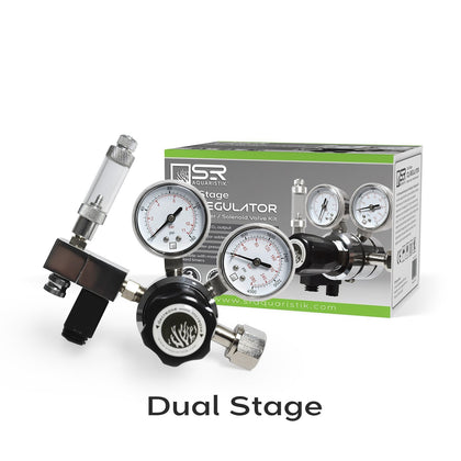 Aquarium CO2 Regulator Bubble Counter Solenoid Kit - Dual Stage