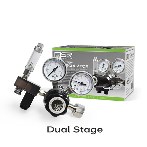Aquarium CO2 Regulator Bubble Counter Solenoid Kit - Dual Stage <h4>Shipping Now</h4>