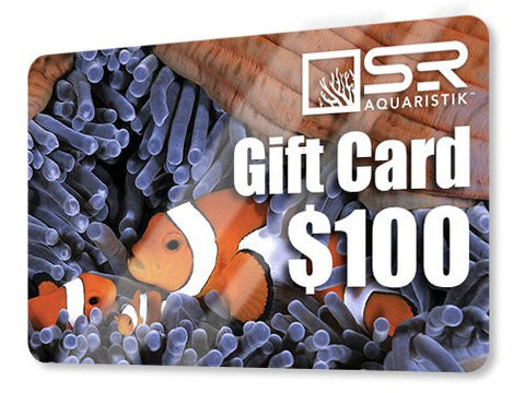 Perfect $100 Gift Card for Special Tropical Fish Keeping Reef Aquarium Hobbyist
