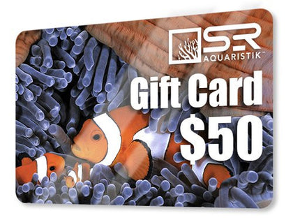 Perfect $50 Gift Card for Special Tropical Fish Keeping Reef Aquarium Hobbyist