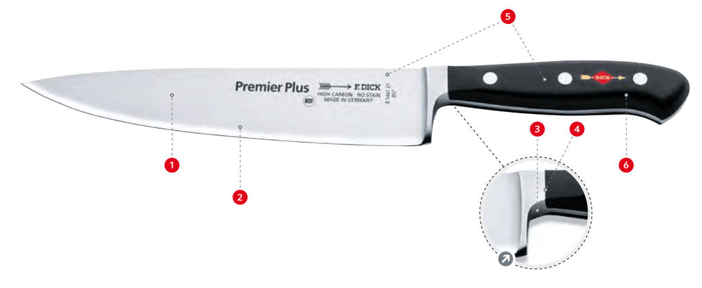 F Dick Premier Plus Filetiermesser Flexibel 18cm