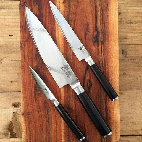 Shun Kai Classic 3 Piece Santoku Knife Set