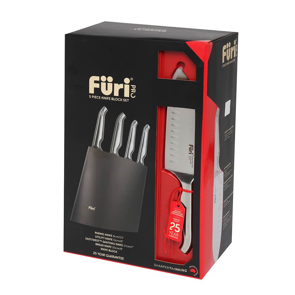 Furi بلوک نرم افزار 5 Pc Block Angular Knife - House of Knives