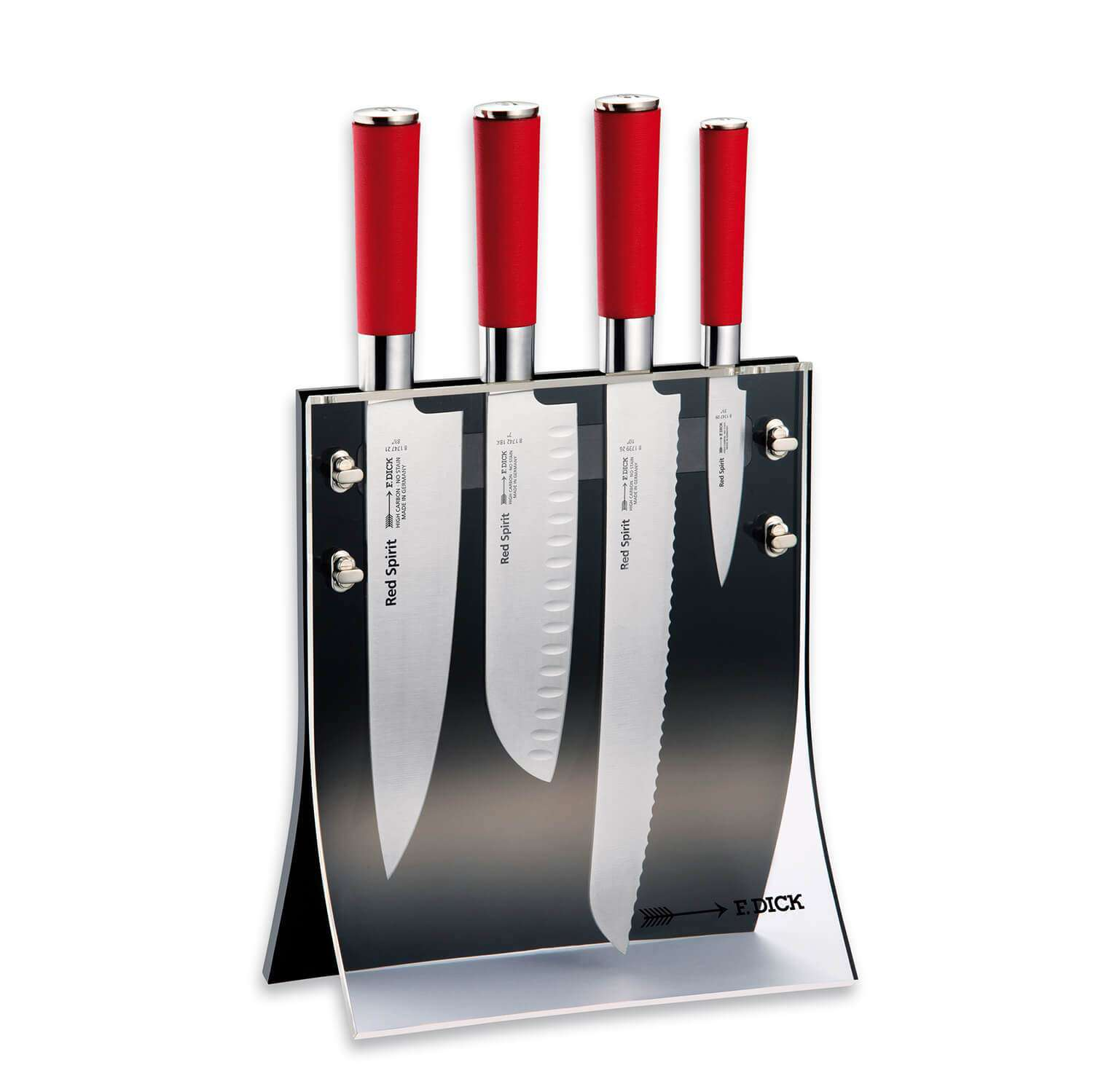 F DICK Red Spirit Knife Block 4 Pc - House of Knives