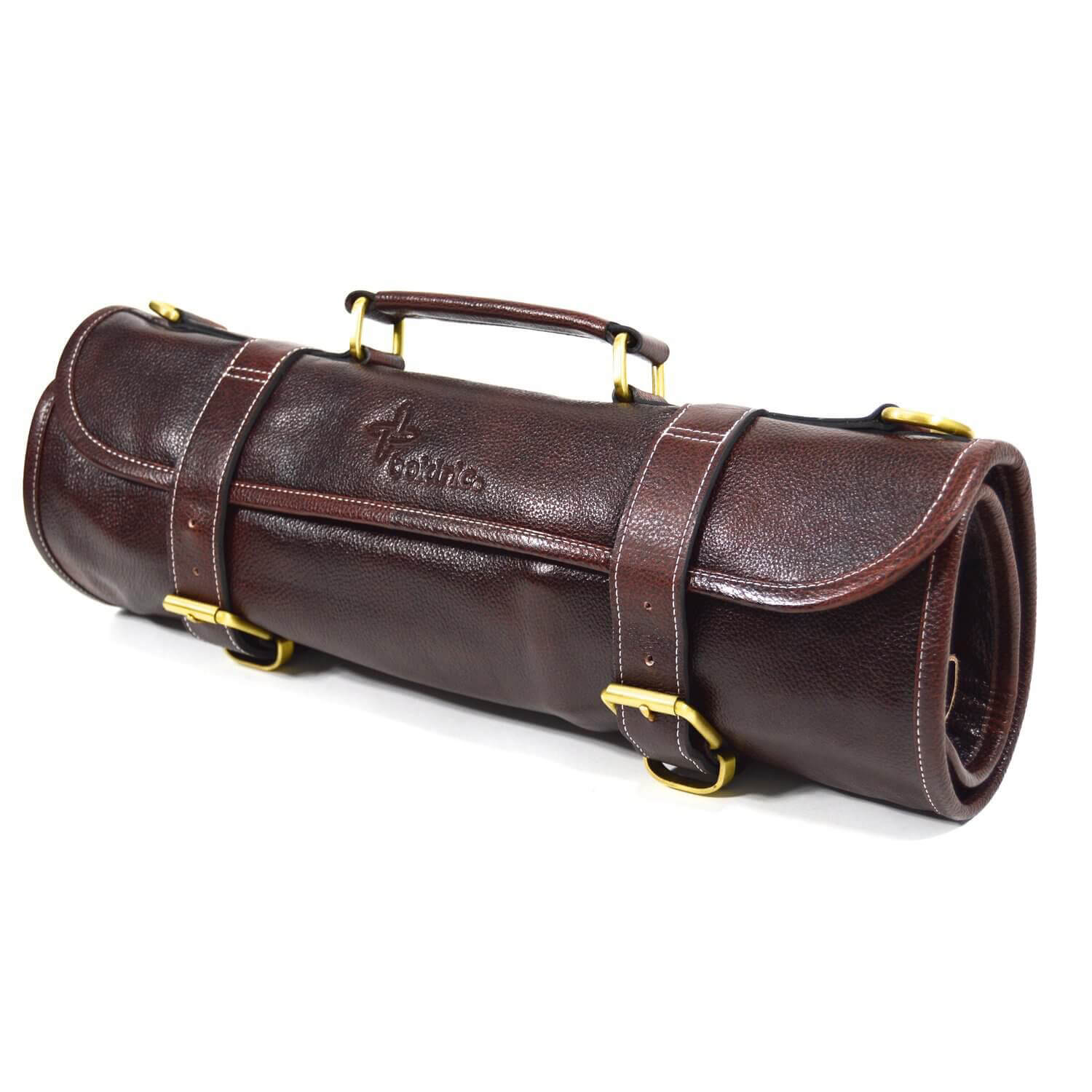 Boldric Leather Knoll Roll 9 mifuko Brown - House of Knives