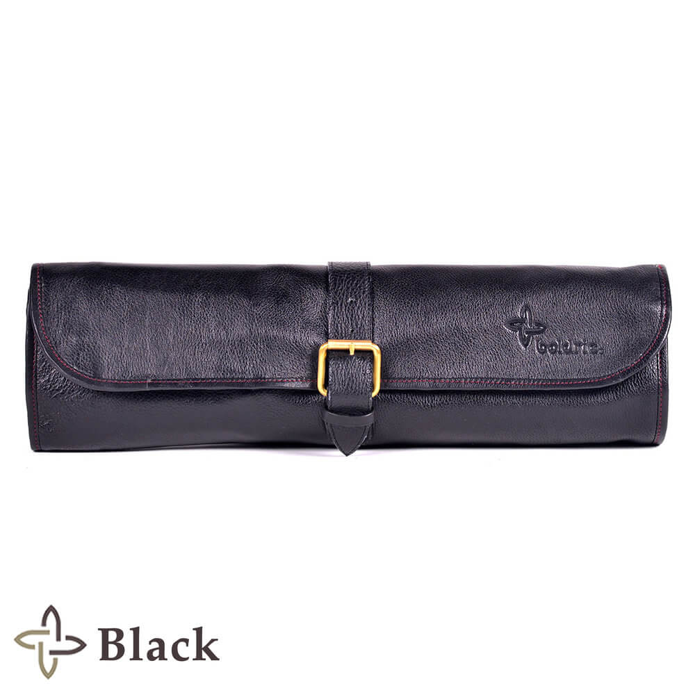 Boldric Leather One-Buckle มีด 8 ช่องสีดำ - House of Knives
