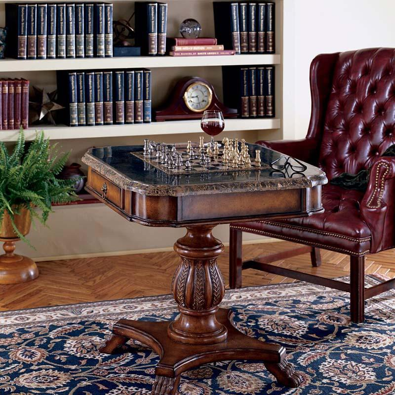 ... The Butler Fossil Stone Game Table Enhances Every Home ...