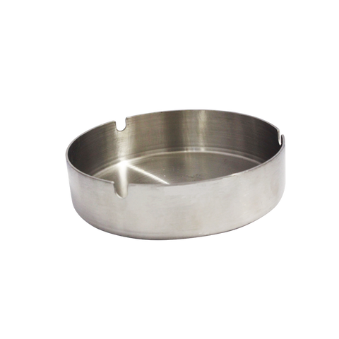 Ashtray 43 - Circular Stainless 3 Cigarette Holders