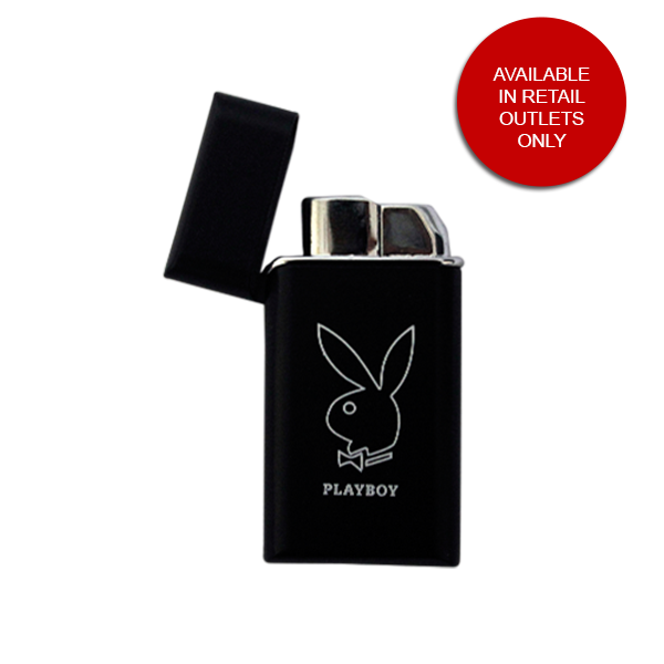 PLAYBOY, MINI SIZE, WINDPROOF GREEN FLAME REFILLABLE LIGHTER